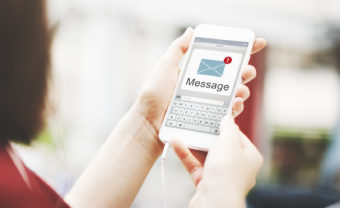 Message Text Mail Chat Communication on Smart Phone