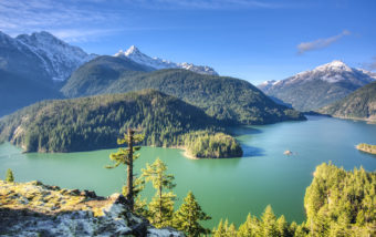 Diablo Lake is a reservoir in the North Cascade Mountains of northern Washington.