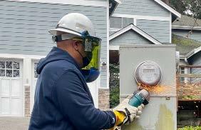 Penlight worker replacing meter