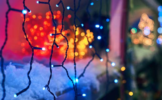 colorful holiday string lights