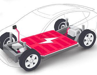 EV car battery illustration