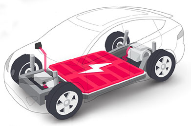 EV car battery illustration