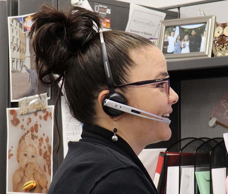 member services team member on a call