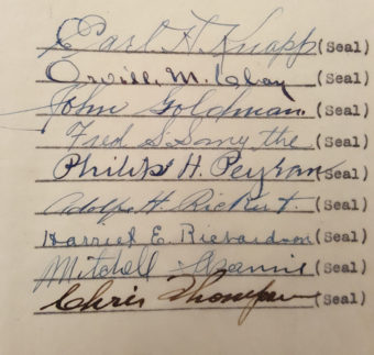 Signatures from years ago.