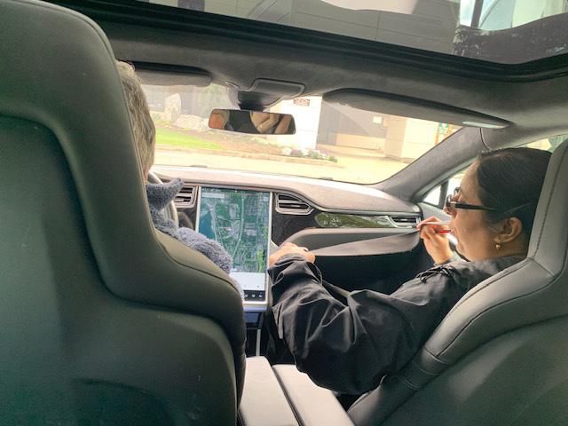 interior of Tesla Model S