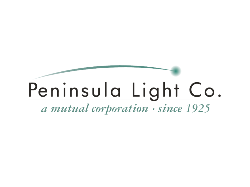 Peninsula Light Company. A mutual corporation since 1925.