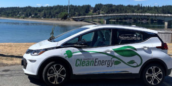 PenLight Clean Energy car on the road.